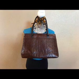 Hinedesign Brown Leather Tote Bag